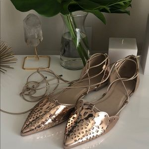 Rose gold ASOS flats